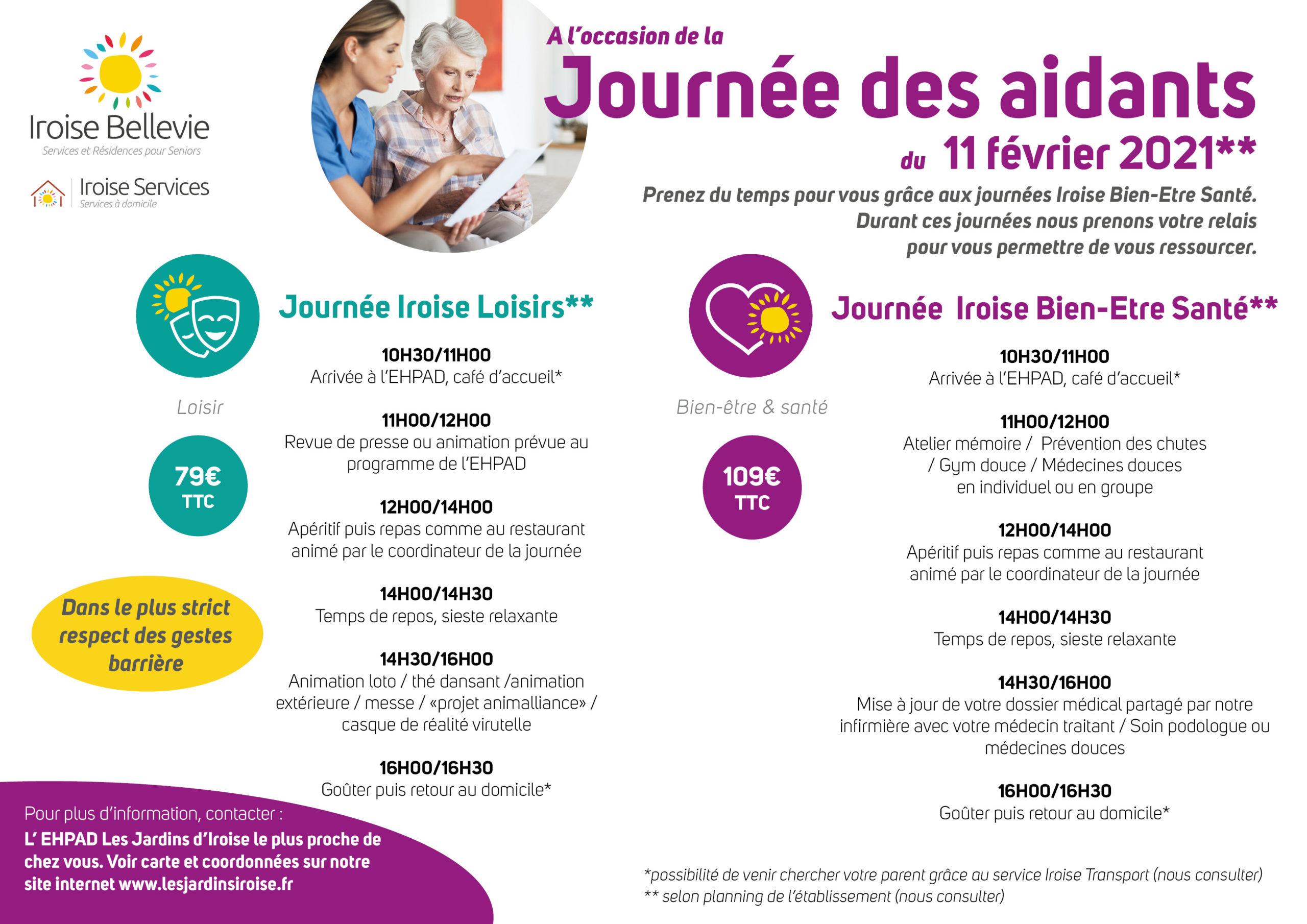 11 février 2021 Journée nationale des aidants avec Les maisons de retraite Les Jardins d'Iroise